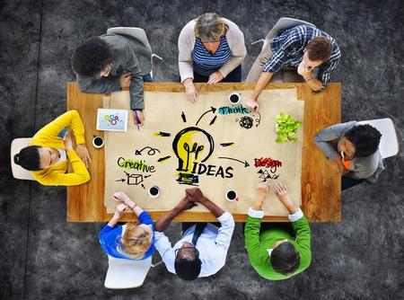31310714 - multi-ethnic group of people planning ideas