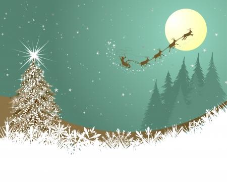 16571630 - beautiful christmas (new year) card. illustration